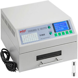 T-962 Reflow Oven Automatic Infrared Heater BGA SMD Soldering 180 x 235mm 800W