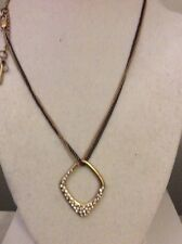 $38 Kenneth Cole Double Two Tone Gold/Black Necklace KC43