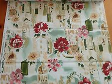 """Bryant Industries Travel Europe Venetian Print Cotton Upholstery BTY x 44""""w"""