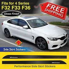 M Performance Side Skirt Sill GLOSS Decal Stickers for BMW F32 F33 F36 4 Series