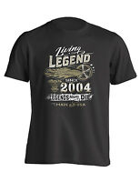 15th Birthday Living Legend Gift Shirt Born in 2004 turning 15 in 2019 | T-Shirt
