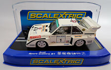 "Scalextric ""Panasonic"" Audi Sport Quattro S1 DPR W/ Lights 1/32 Slot Car C3487"
