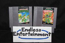 Teenage Mutant Ninja Turtles TMNT 1 & 2 The Arcade Game Lot NES Nintendo Tested!
