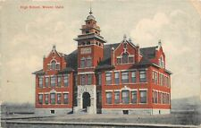 F27/ Weiser Idaho Postcard 1908 High School Building