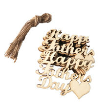 10 Pieces Fathers Day Anniversary Birthday party, DIY Hanging Wooden Decor