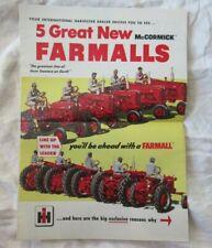 IH McCormick Farmall cub 100 200 300 400 tractor brochure