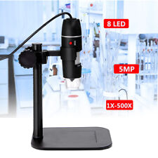 5MP 8 LED USB Digital Camera Microscope Magnifier Camera Vidio 1X-500X 5V DC