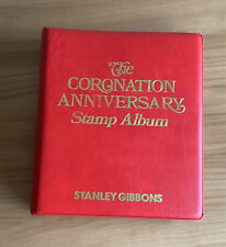 More details for qe ii coronation anniversary omnibus stamp collection in special sg album ref s9