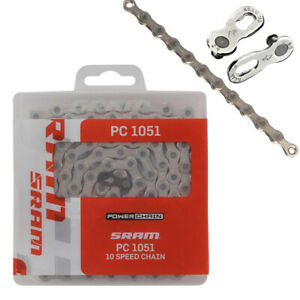 SRAM Kette PC1051 10-Fach 114 Glieder incl. Powerlock Fahrrad Schaltung MTB Road
