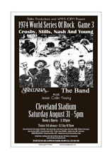 CSNY / Santana / The Band 1974 Cleveland Concert Poster