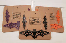Large Bat Necklace And Earings Goth Jewellery, Black, Orange, Purple, Halloween