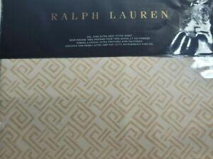 New Ralph Lauren Weston Park Hutchings Cal King Extra Deep Fitted Sheet Cream