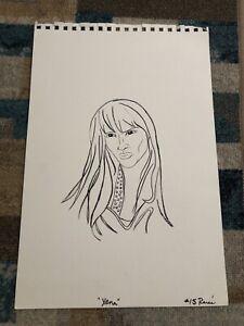 Original Hand drawn Art Of Xena By Renee O'Connor