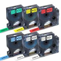 6 Pack Compatible DYMO D1 45010 45013 Label Maker Tape LabelManager 160 280 420P
