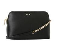 NWT DKNY BRYANT PARK SM TZ DOME CROSSBODY BAG BLACK PURSE $128
