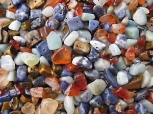 100g Splitter Halbedelstein Mix 6-20mm Perlen top neu Beads 8394