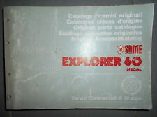 Same EXPLORER 60 Special 1987 : catalogue de pièces