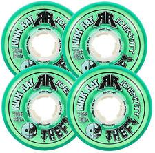 RINK RAT Wheels 72mm 80a IDENTITY THEFT 4-Pack Green Inline Indoor Hockey