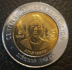 5 pesos Mexico La Soldadera 2010 UNC
