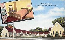 Kentucky Ky Postcard Roadside DANVILLE Huntwood Motel 2View Interior