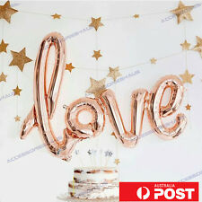 40 inch Love Foil Balloon Wedding Script Handwriting Home Decoration Rose Gold