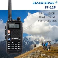 Baofeng FF-12P Walkie Talkie UHF/VHF 5W 128CH CTCSS DCS VOX Interphone Headset