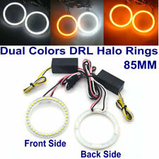 85MM LED HALO RINGS SMD White Amber Dual Color LED ANGEL EYES DRL Turning Signal