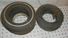 5 VINTAGE REPLACEMENT TIRES TOY WAGON  1 1/2  X 7 3/4  HARD RUBBER
