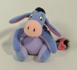 "1998 Eeyore 5"" McDonald's EUROPE Plush Action Figure Disney Winnie The Pooh"