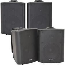 """4x 90w schwarz Wandmontage Stereo Lautsprecher –5.25"""" 8 Ohm – Qualität Home Audio Musik"""