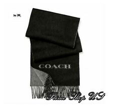 NWT Coach F86542 Cashmere Blend Bicolor Logo Navy Scarff MSRP $ 125