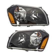 2005-2007 Dodge Magnum Black Headlights Set Front Left & Right MOPAR GENUINE OEM