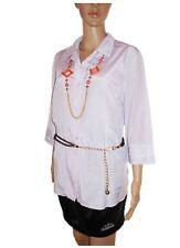 Womens Vtg 80s SPENGLER Purple Silky Embellish Formal Shirt Blouse sz 16 18 AB83