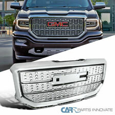 16-18 GMC Sierra 1500 Pickup Chrome Front Bumper Grill Hood Grille Replacement