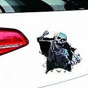 3D Reflective Cool Thriller Skull Decal Graphic Car Hood Trunk Rear Window Decal