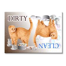 Scottish Fold Cat Clean Dirty Dishwasher Magnet No 1