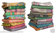 Kantha Quilt Indian Vintage Reversible Throw Handmade Blanket Wholesale Lot