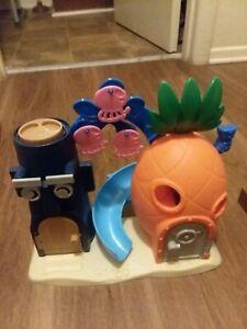 Spongebob Squarepants Pineapple House Bikini Bottom Playset Imaginext