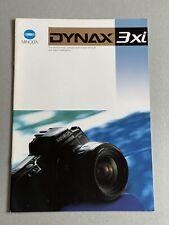Minolta Dynax 3xi, 35mm Film Camera, A4 Paper Brochure, 22 Pages