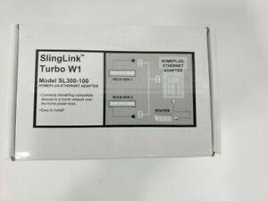 SlingLink Turbo W1 Model SL300-100 Homeplug-Ethernet Adapter 157089 BRAND NEW!