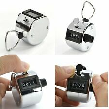 Hand 4 Digit Counting Tally Number Counter Click Clicker Manual Mechanical