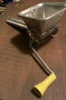 Vintage Mouli Parsmint French Grinder Grater With Yellow Handle Functional