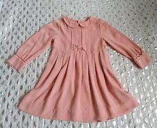 H&M girls Dusty pink  long sleeve dress sz 2-3