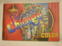"Vintage 1949 Pictorial Chicago Booklet Map and Pictures of City 8"" X 5 3/8"""