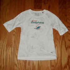 Tommy Bahama Football Miami Dolphins Floral Shirt Top Size S White Women's