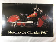 1987 Motorcycle Classics Calendar 17 wide by 11 in tall