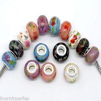 10 Mixte FP Perles Fleur Céramiques pr Bracelet Charms européen 14x10mm