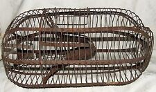 Antique Wire Spring Balance Varmint ANIMAL MINK TRAP CAGE Release Door