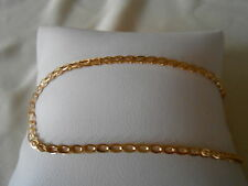 "14k Yellow Gold Plated Oval Link Chain 8"" Bracelet"