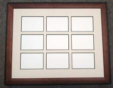 11x14 Brown Black Wood Ivory Black Core Matted Frame 2.5 x 3.5 ACEO 9 Openings